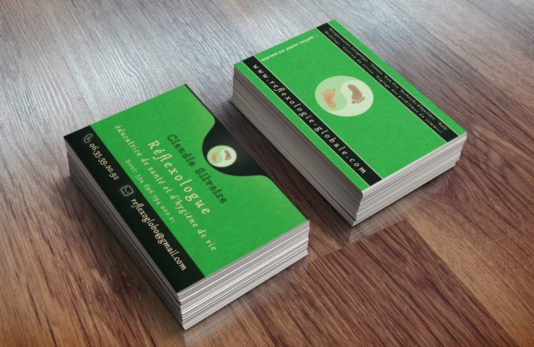 graphiste imprimeur nice carte de visite réflexologue